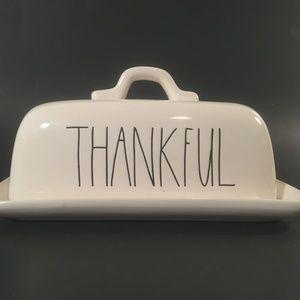 Rae Dunn Thankful butter dish thanksgiving NEW